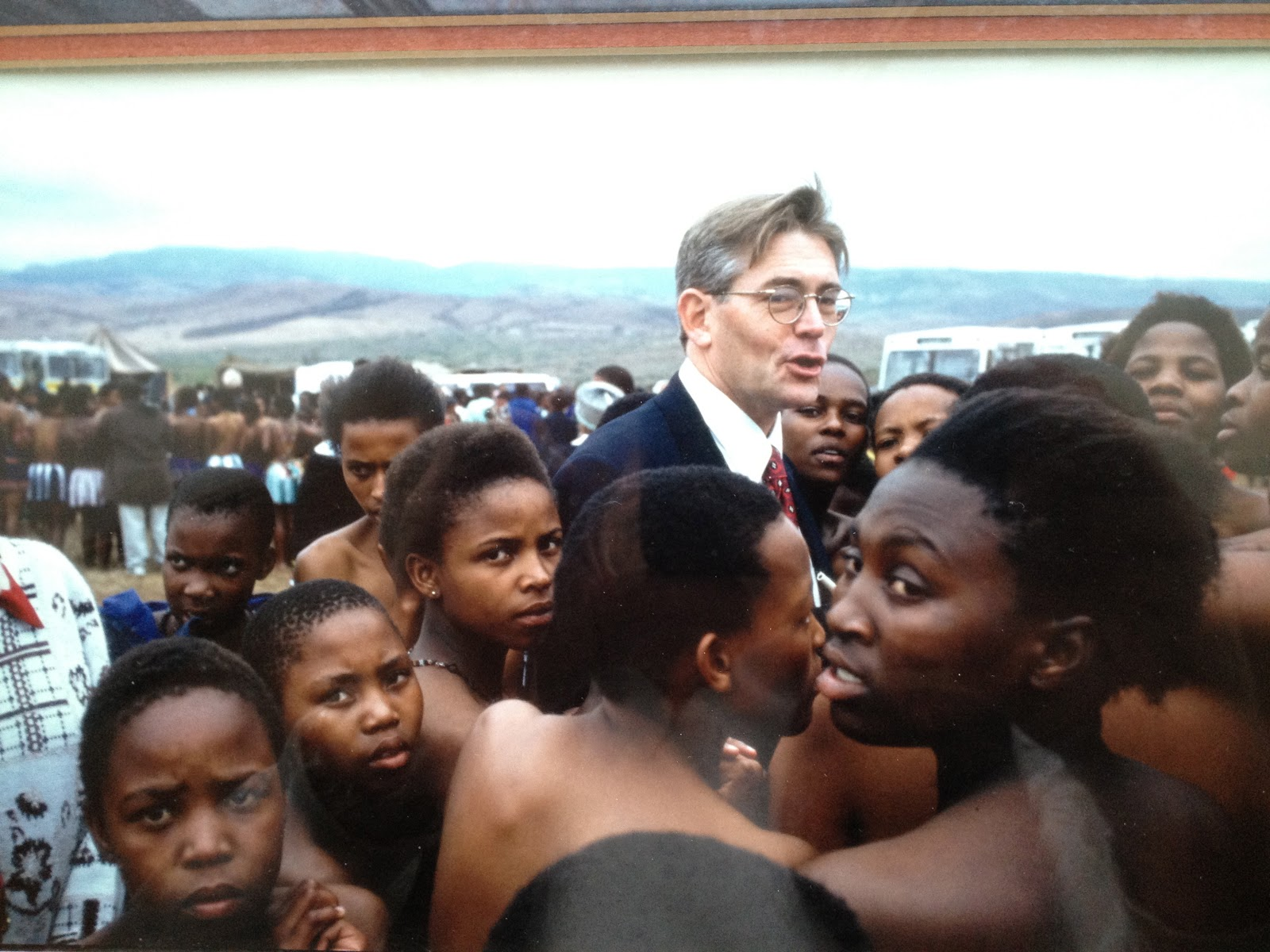 McNeil Interviewing young women at an anti-HIV dance event in Zululand, South Africa in 1998