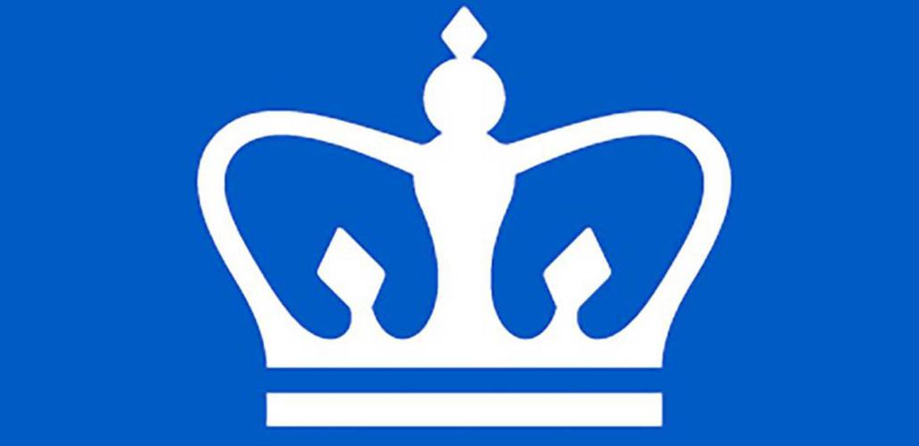 white crown on blue blackground