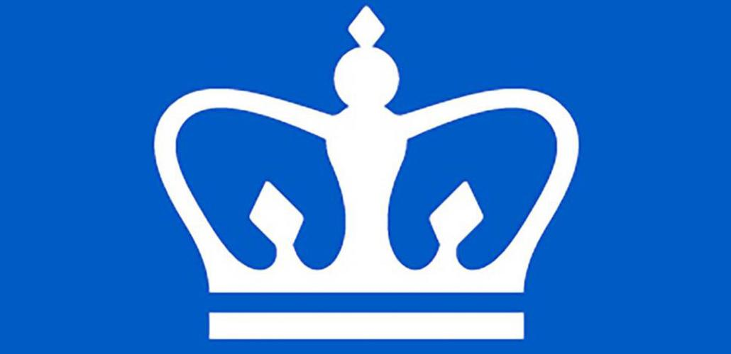 white crown on blue background