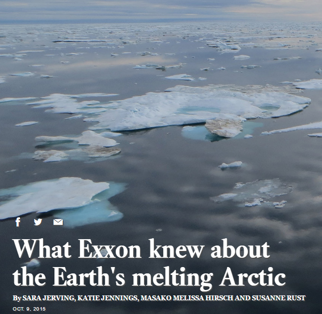 A series of articles revealed Exxon's public and private understanding of climate change.
