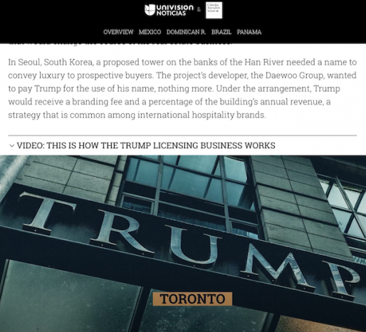 Univision: Trump.org preview