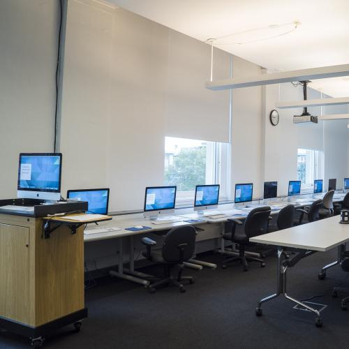 Lab 601a: Computer lab with Macs: Classroom Rentals at Columbia Journalism School in New York City