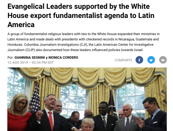 Preview of story: Evangelical Leaders supported by the White House...