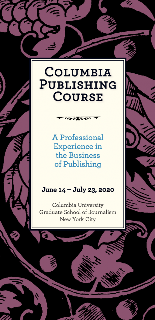 Cover of brochure reading 'Columbia Publishing Course'