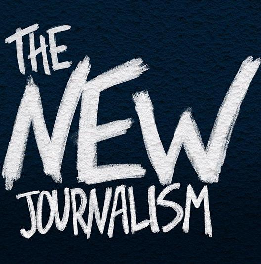 The New Journalism on black background