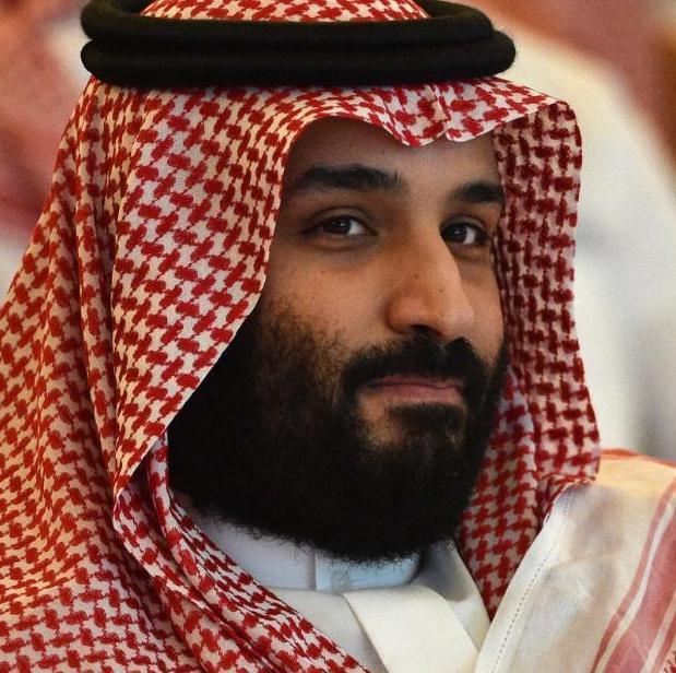 bearded man in Saudi headcovering