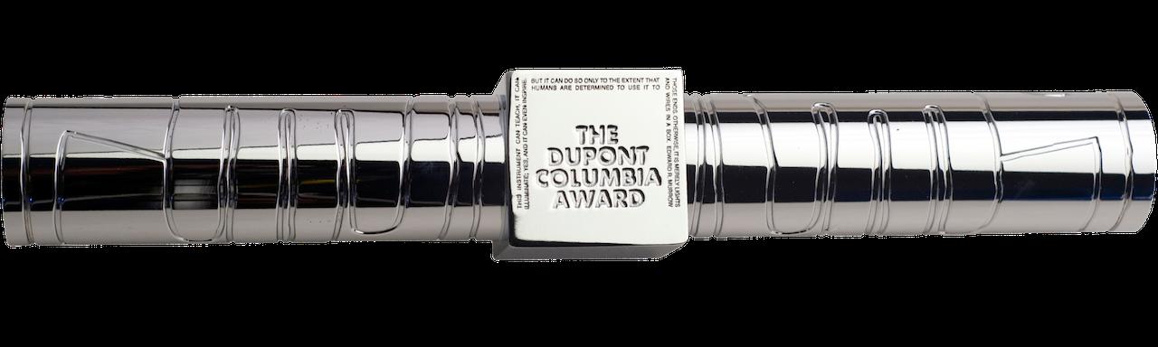 Silver baton with duPont logo