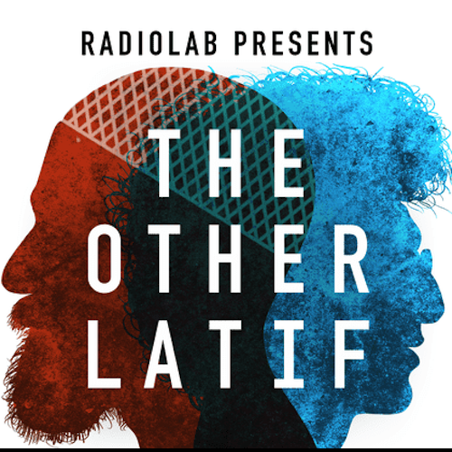 """red and blue male silhouettes facing different directions with white text reading """"The Other Latif"""""""