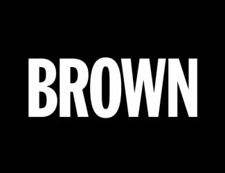 "Logo: ""Brown"" in white on black background"