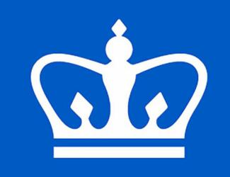 blue background with white crown
