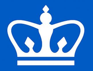 crown on blue background