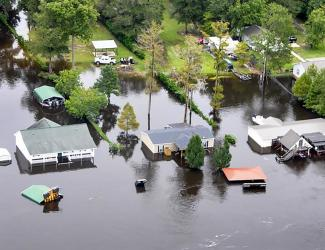 houses in flood zone