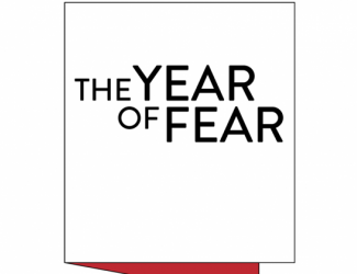 """black rectangle reading """"The Year of Fear"""""""