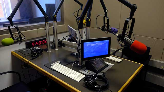 NYC ISDN Audio Studio Rental at Columbia University