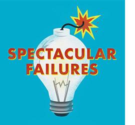 Spectacular Failures logo with lightbulb